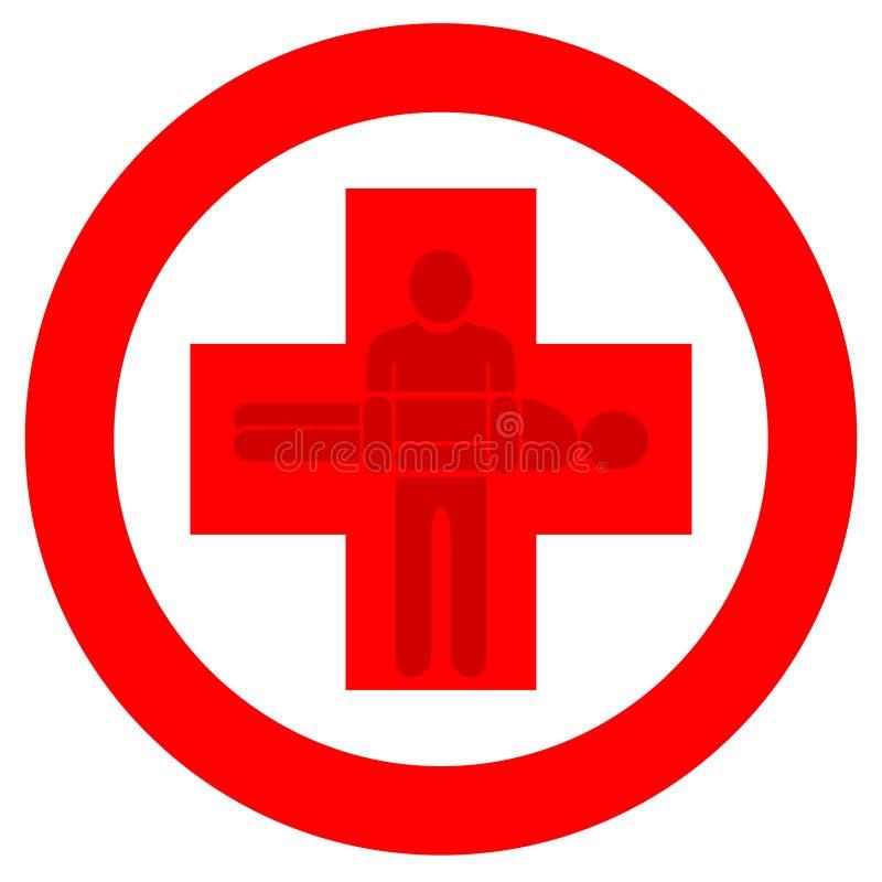 Red cross logo vector illustration