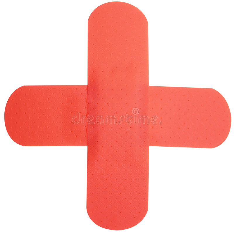 RED CROSS plaster royalty free stock image