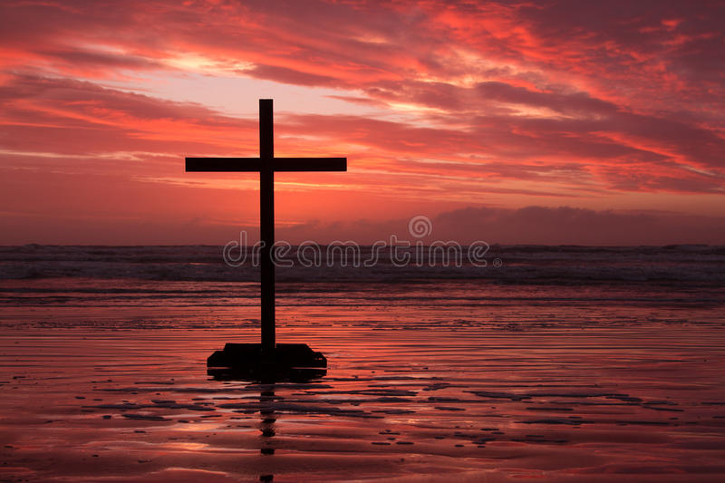 Download Red Cross Sunset stock photo. Image of religious, easter - 33590600