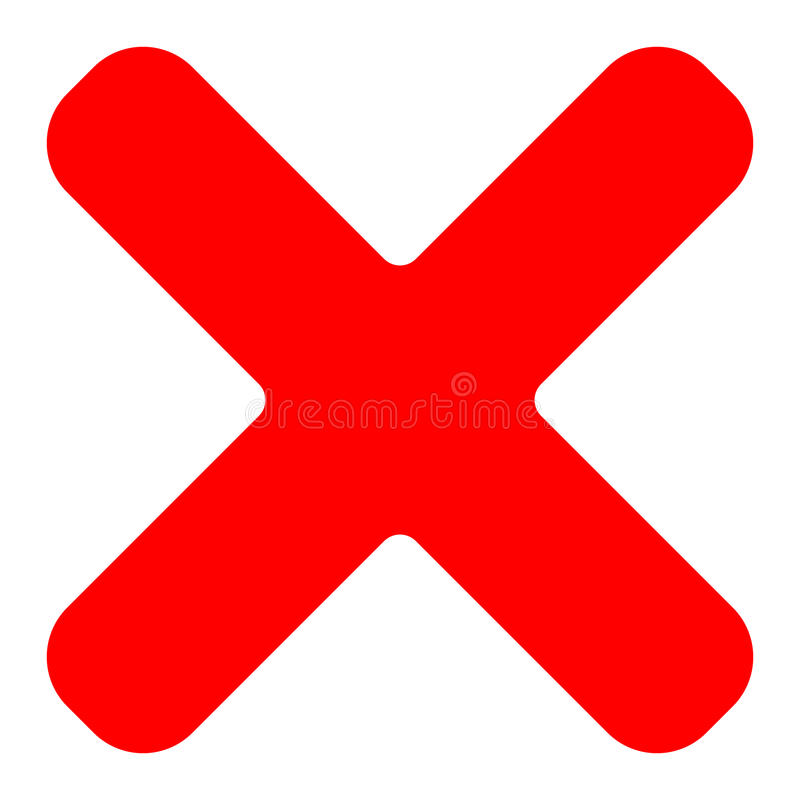 Free Red Cross Symbol, Icon As Delete, Remove, Fail-failure Or Incorrect Answer Icon Royalty Free Stock Image - 89999776