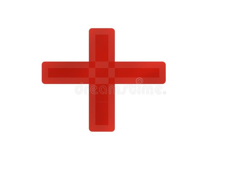 World red cross day symbol royalty free illustration