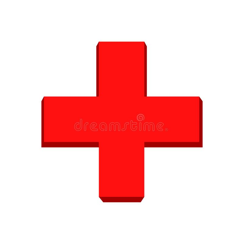 Free Red Cross Symbol.Vector Red Cross Royalty Free Stock Photo - 110771065