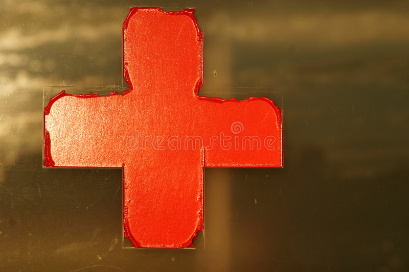 Download Red cross on window stock image. Image of sunset, medical - 106743
