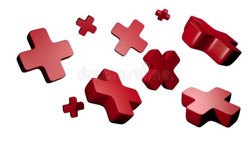Red Crosses Royalty Free Stock Images