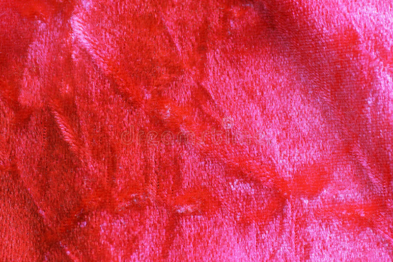 Download Red Crushed Velvet Background Stock Photo