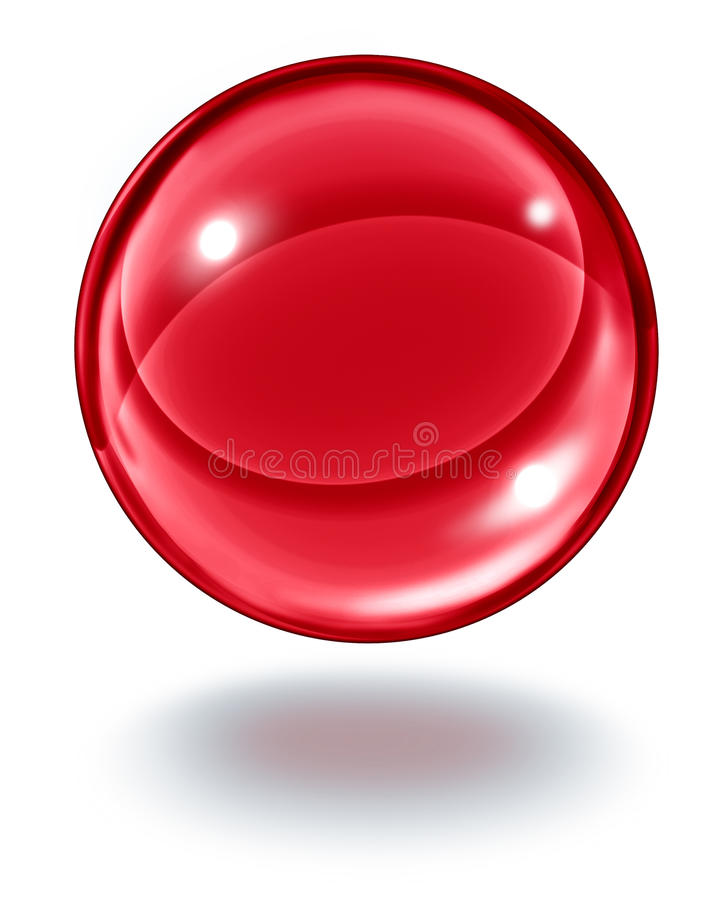 Red Crystal Ball stock illustration
