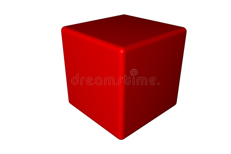 Red cube vector illustration