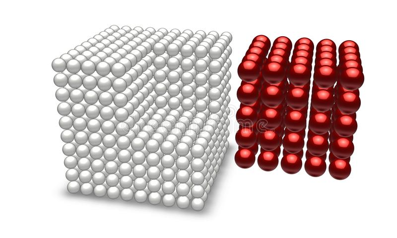 Download Red Cube With Ball Parts Royalty Free Stock Image - Image: 15557366