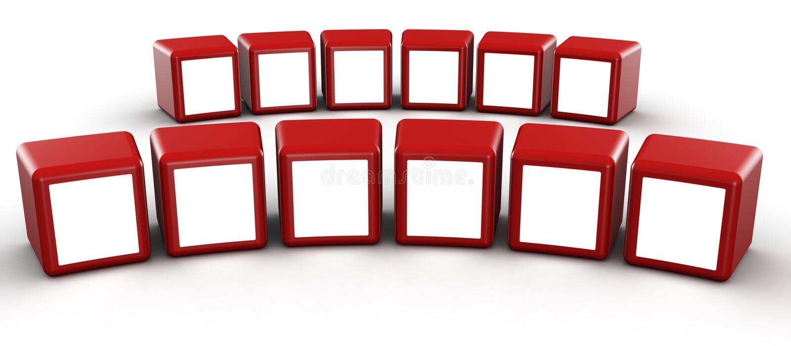Download Red Cube Photo Frame Gallery Concept Stock Illustration - Illustration: 15034516