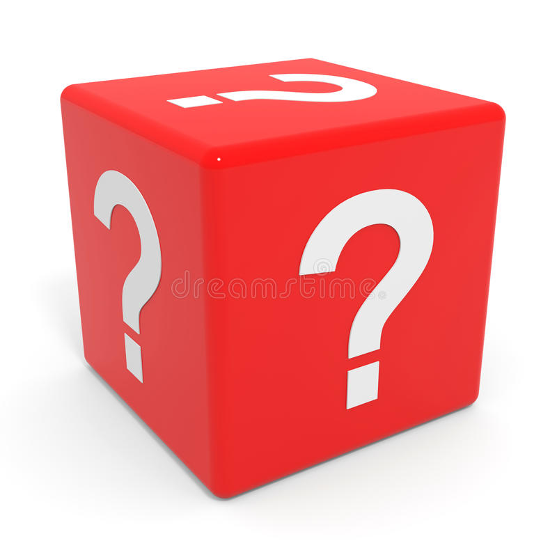 Free Red Cube With Question Mark. Stock Images - 23641344
