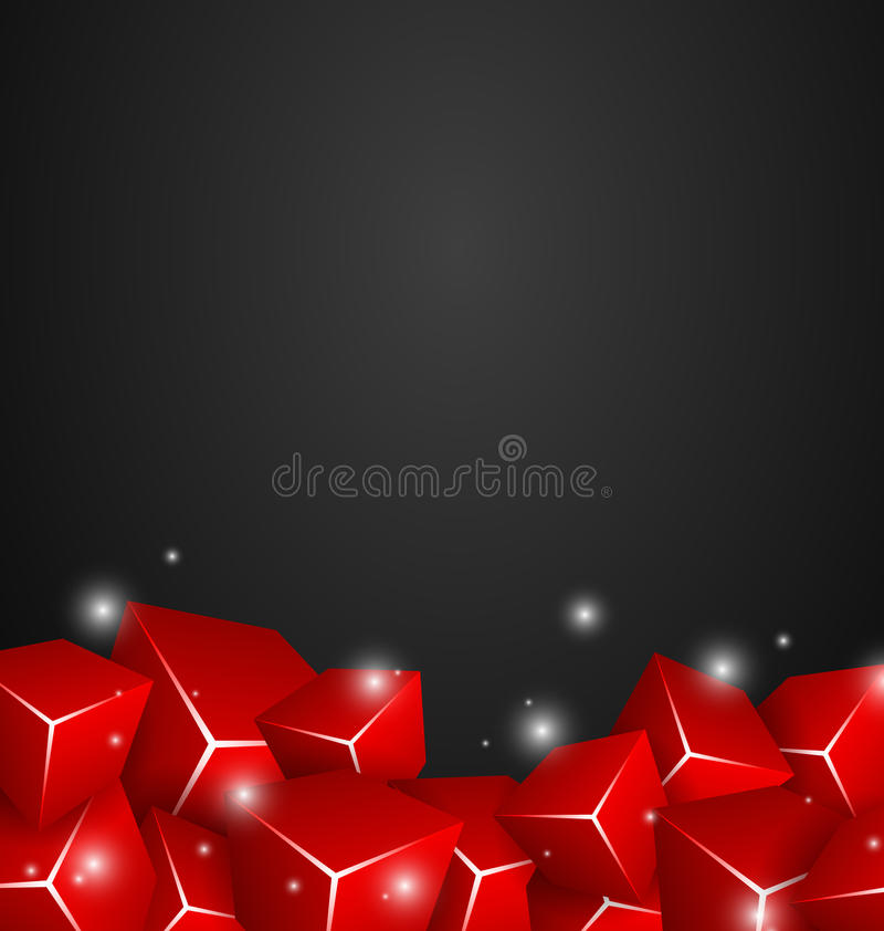 Download Red Cubes stock illustration. Image of backdrop, beauty - 25200244