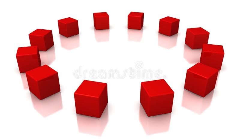 Download Red Cubes Stock Image - Image: 26626581