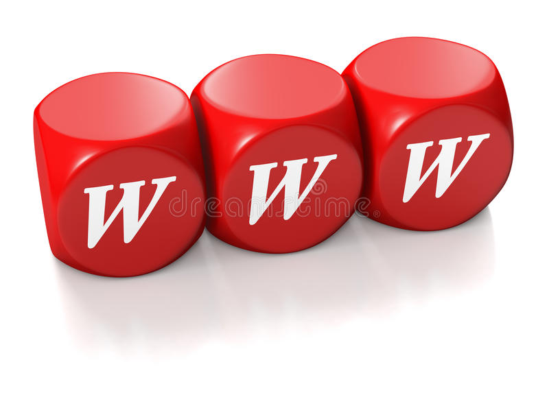 Red Cubes with WWW address royalty free stock photography