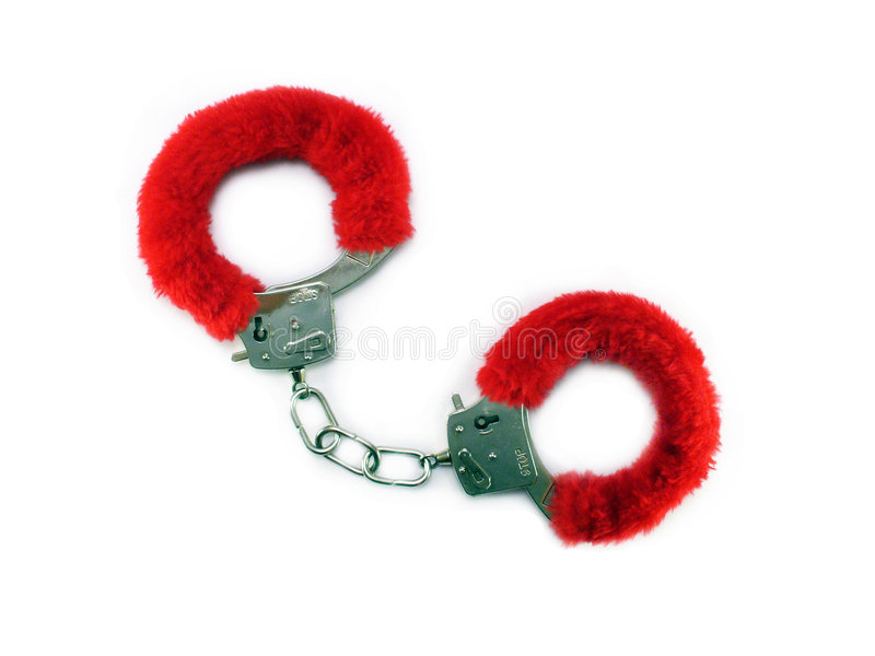 Download Red Cuffs On White Stock Photo - Image: 869250