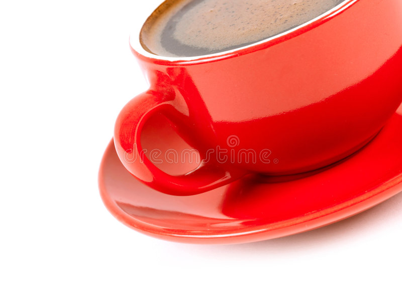 Download Red cup of coffe stock photo. Image of cappuccino, brazilian - 8083434