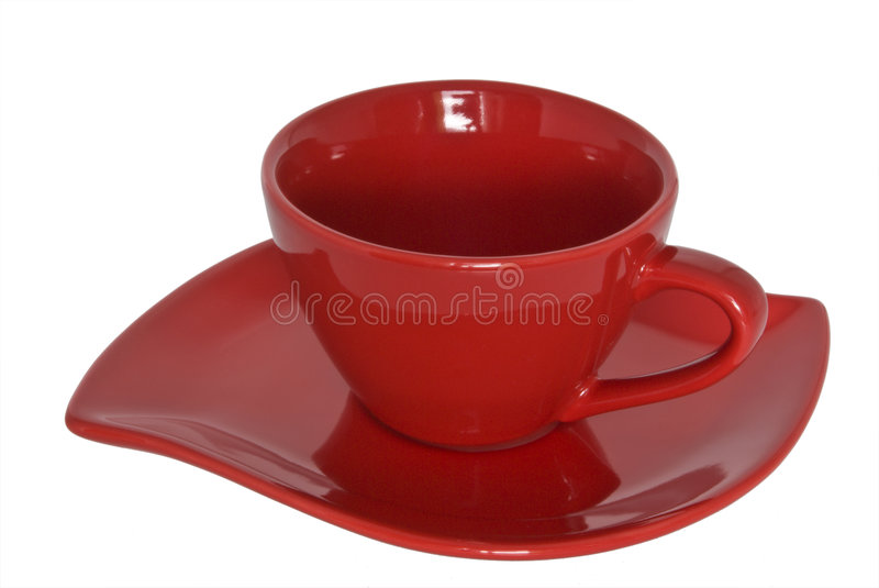 Download Red Cup And Saucer. Close-up. Stock Image - Image: 8841589
