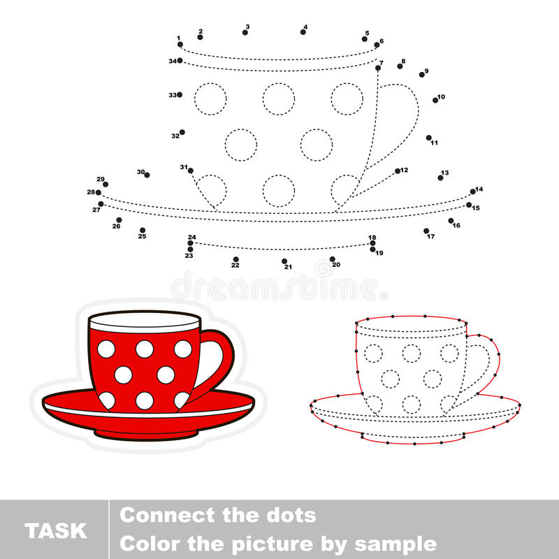 Red Cup. Vector numbers game. royalty free illustration