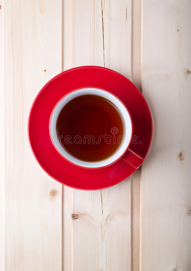 Free Red Cup With Tea On Saucer Royalty Free Stock Photography - 87464407