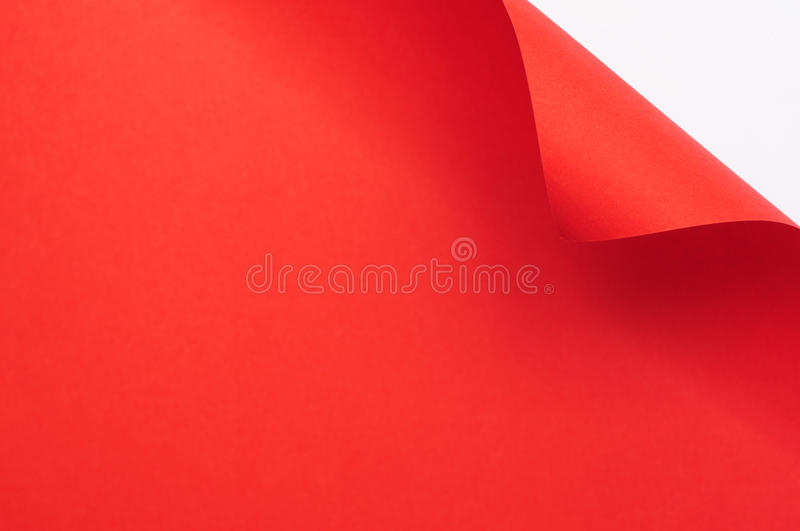 Download Red curl paper stock image. Image of blank, edge, margin - 32055781