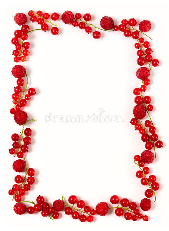 Free Red Currant Border Royalty Free Stock Image - 962596