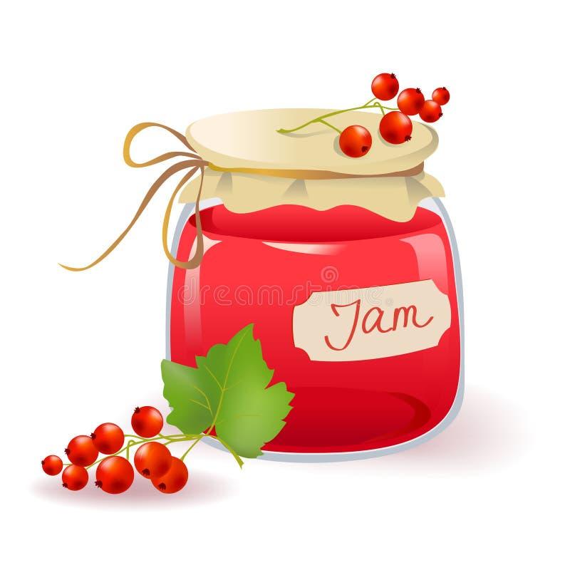 Download Red currant jam stock vector. Illustration of label, design - 32809548