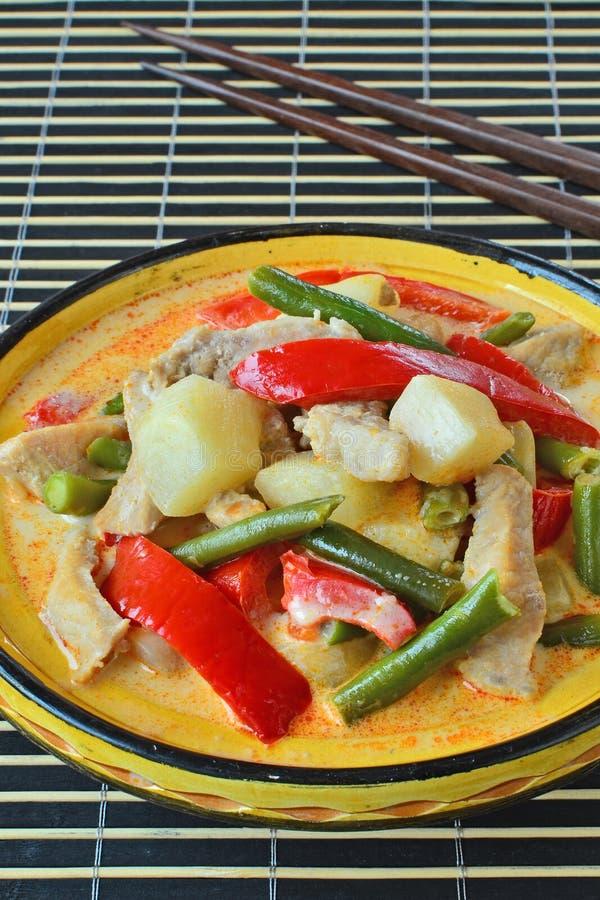Red curry pork