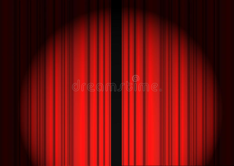 Download Red Curtain stock illustration. Illustration of theater - 13596517