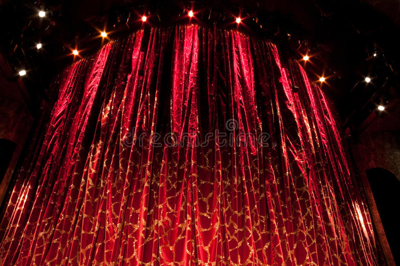 Download Red Curtain stock image. Image of auditorium, opera, performance - 14187553