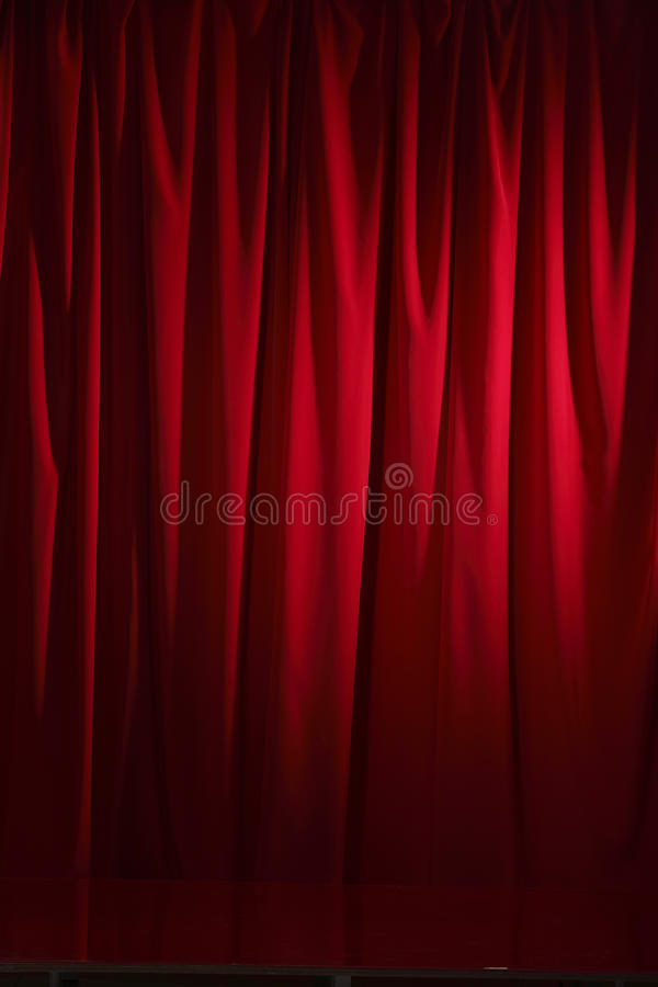 Red Curtain. Red theater curtain for Stage show presentation concept royalty free stock image