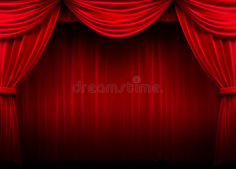 Download Red curtain stock illustration. Image of fabric, design - 20702106