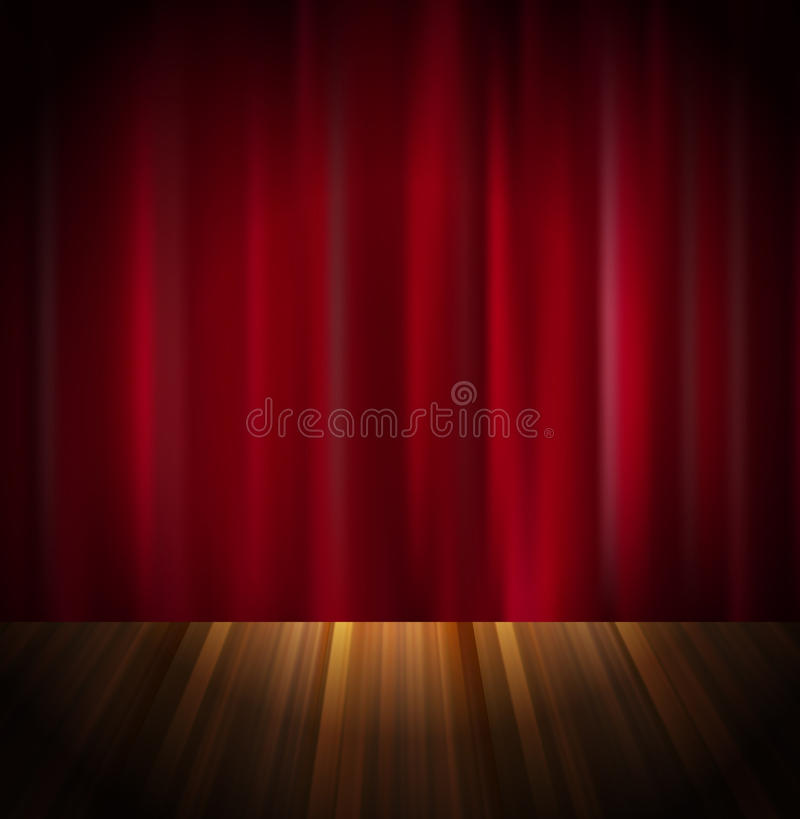 Download Red curtain stock vector. Image of night, graphic, deep - 23665559