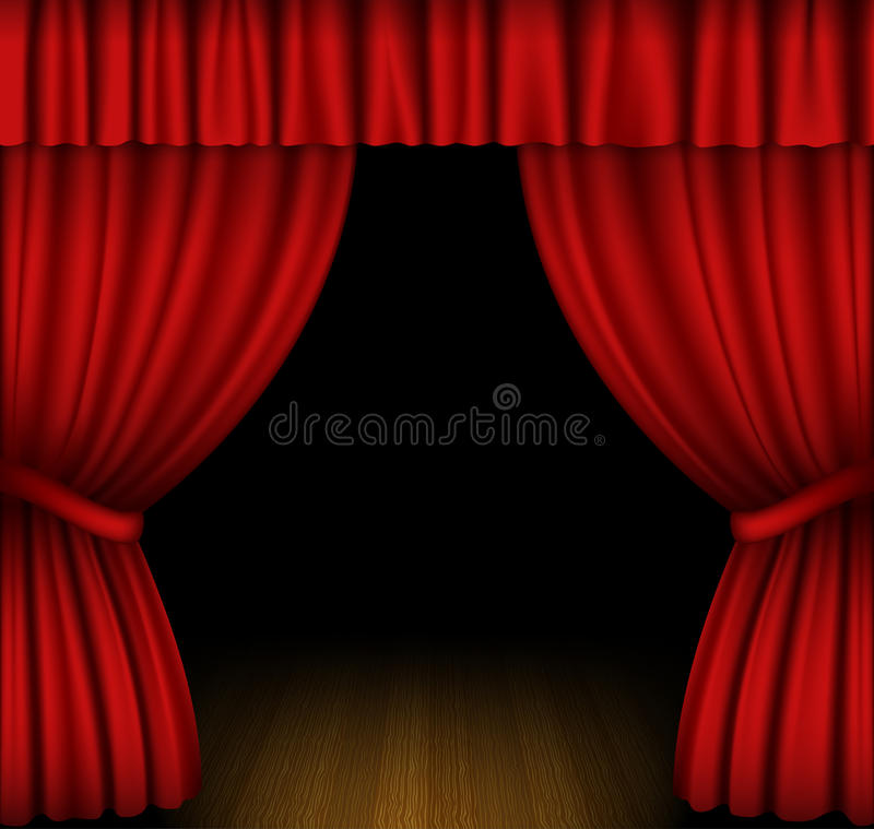 Free Red Curtain Stock Photography - 31395872