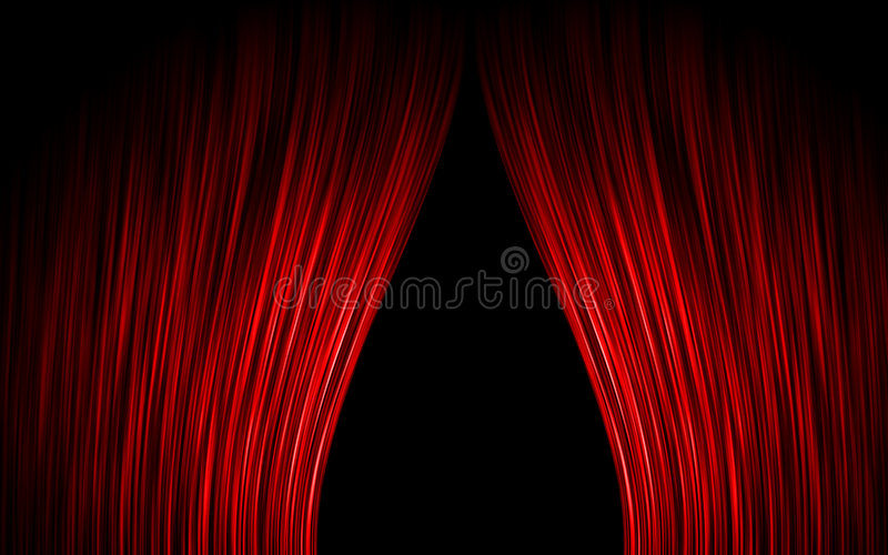 Download Red curtain stock illustration. Image of announce, play - 6288793