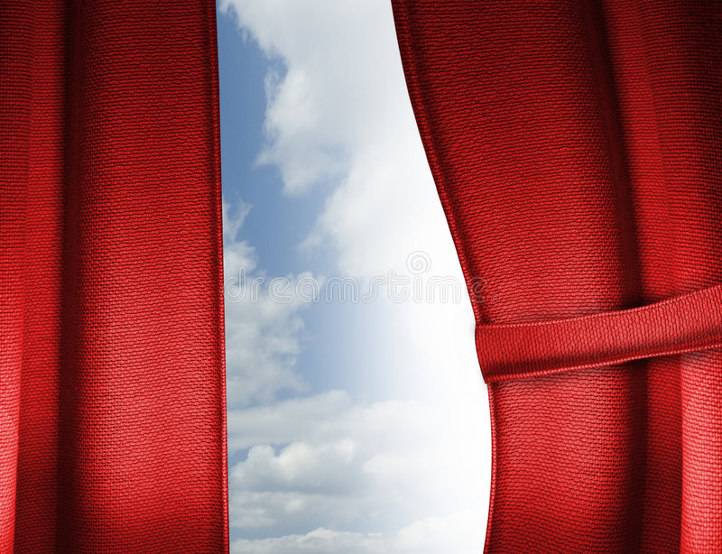 Download Red curtain stock photo. Image of draperies, drape, display - 6302206
