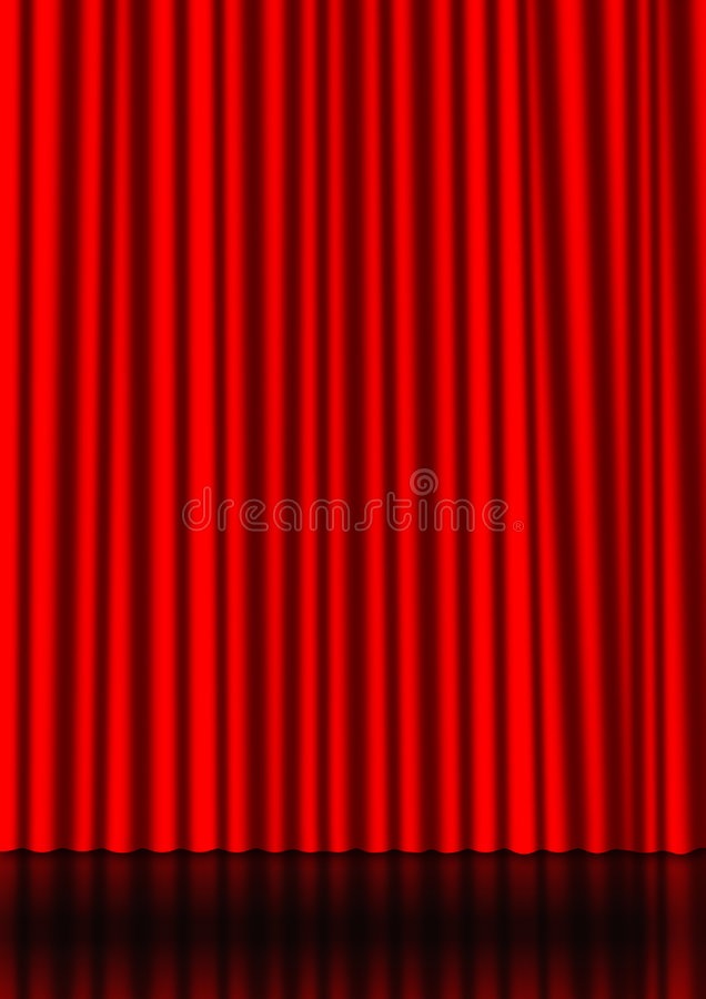 Free Red Curtain Royalty Free Stock Photos - 8702408