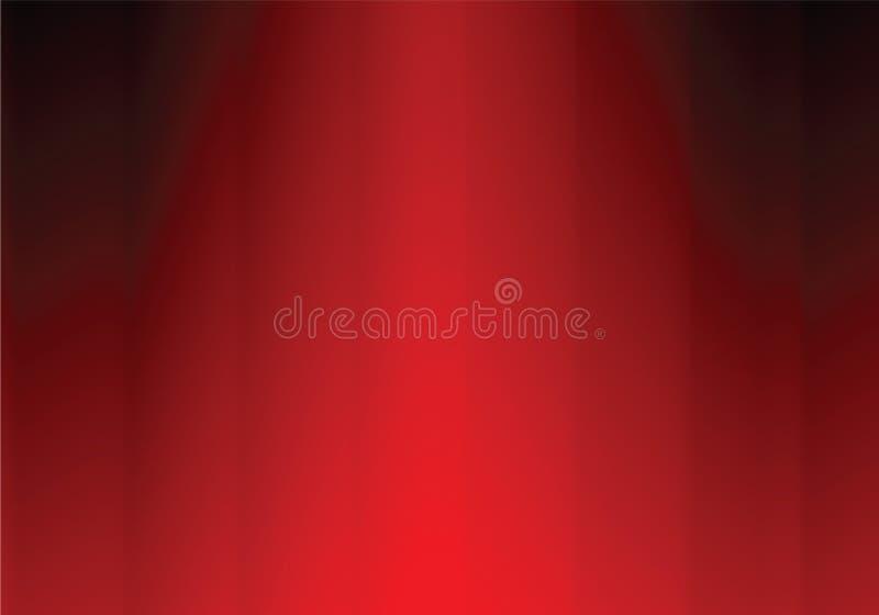 Download Red curtain stock vector. Image of ornamental, retro, swirl - 9924648
