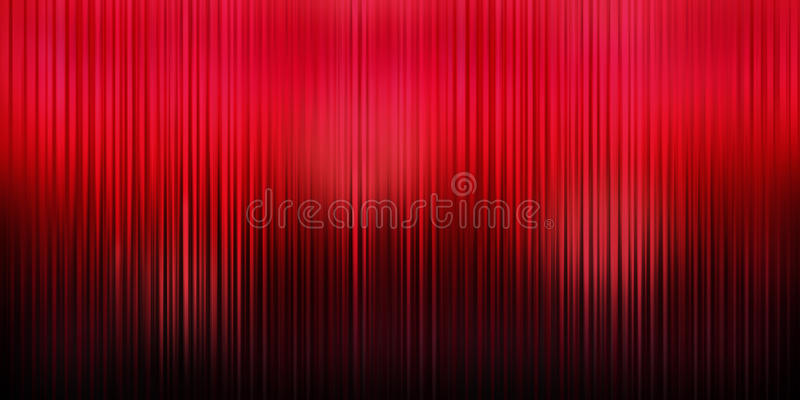 Red Curtain Theater Background. A panorama of a rich red curtain theater background with folds, shadows and highlights stock photo
