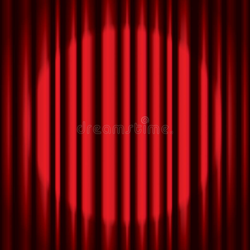 Red Curtain Background stock illustration