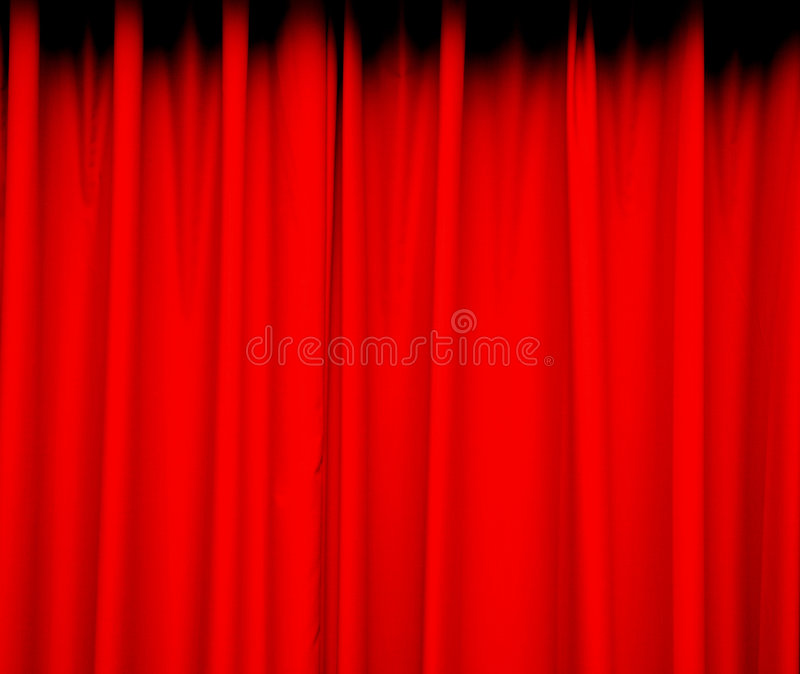 Red curtain background. Deep red curtain for background stock images