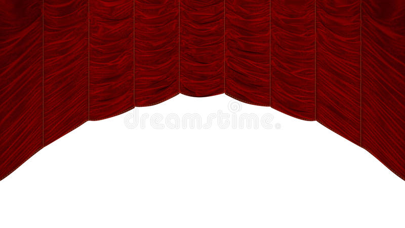 Red Curtain with beautiful pattern vector illustration