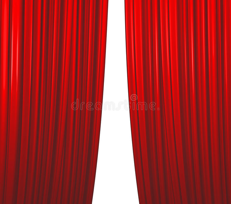 Red Curtain Closing stock photo