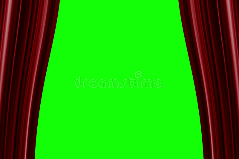 Download Red Curtain Opening Background Stock Illustration   Illustration  Of Culture, Backdrop: 84528773