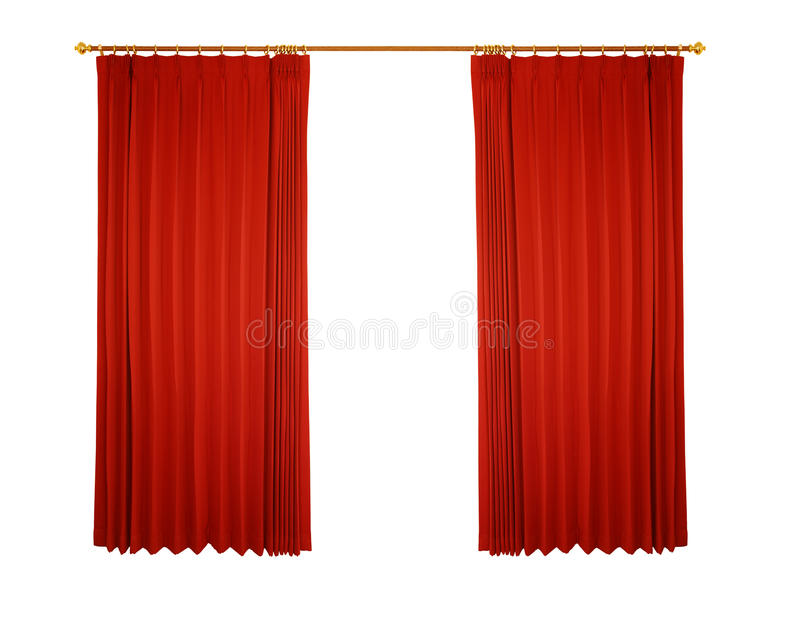 Red curtain (with path). Theater stage with red curtain (with path stock illustration