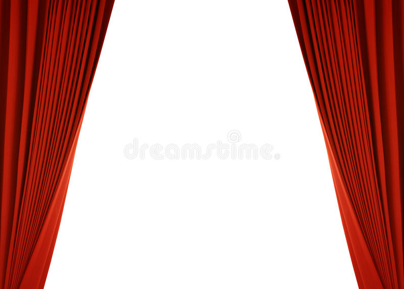 Red curtain (with path). Theater stage with red curtain (with path royalty free illustration