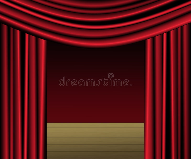 Download Red Curtain Stage stock illustration. Image of drapery - 323697