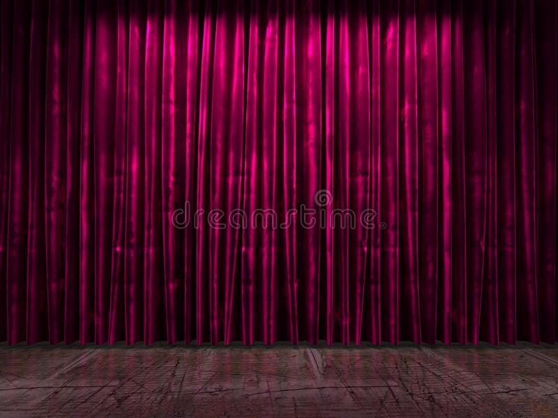 Red curtain stage stock illustration