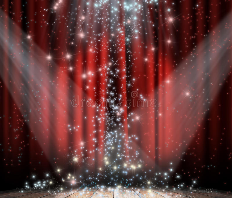 Red Curtain With Star Royalty Free Stock Photo
