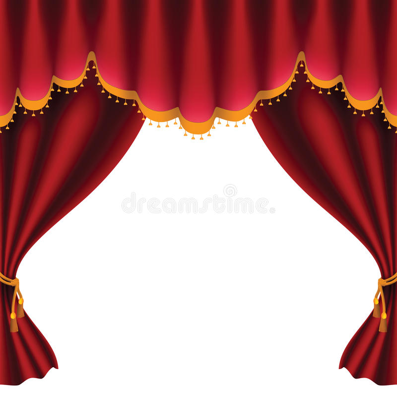 Red Curtain Royalty Free Stock Photo