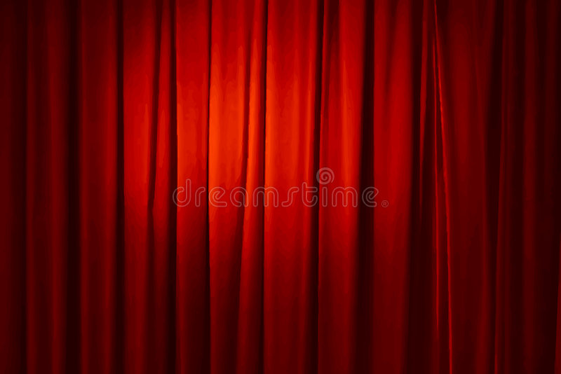 Download Red curtain, vector stock vector. Image of illustration - 3585587