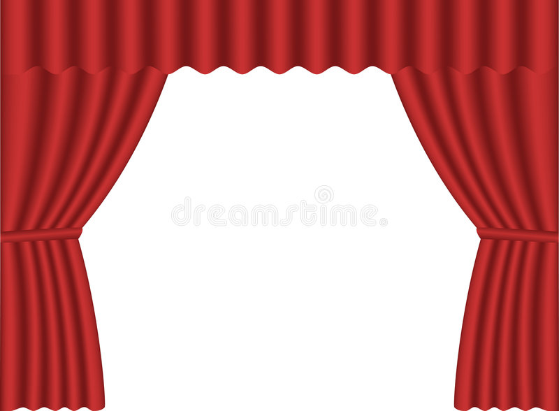 Red curtains stock illustration